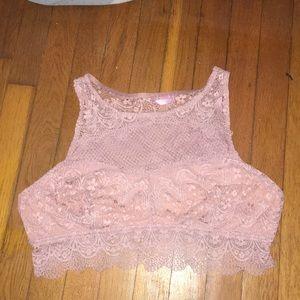 Rue 21 Pink Lace Bralette plus size